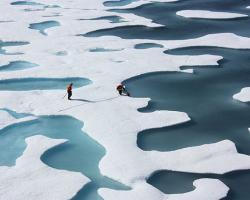 melting ice in Arctic