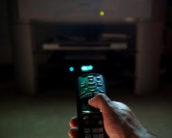 Remote control for a television