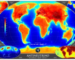 Global map of all the antineutrinos on the Earth's surface