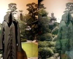 An invisibility cloak using optical camouflage designed by Susumu Tachi