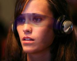 A headset for augmented reality with a mobile device
