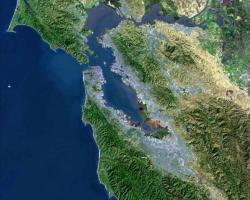 USGS satellite photo of the San Francisco Bay Area