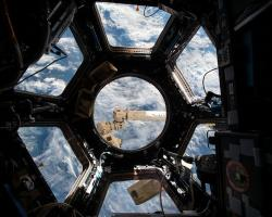 The Cupola observation module on the ISS
