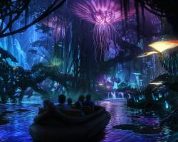 Artist's concept of Pandora, the Avatar-themed segment of Disney Parks