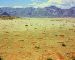 Fairy circles in Marienfluss in Namibia