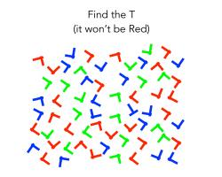 Find the T (it won't be red)