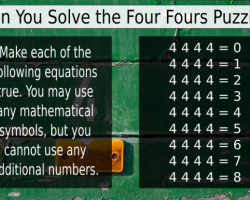 Four fours math puzzle