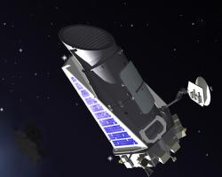 Artist's conception of the Kepler telescope