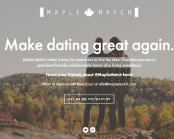 Maple Match home page