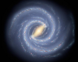Artist's illustration of the Milky Way galaxy from afar