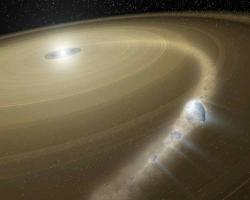 Comet 'Bites the Dust' Around Dead Star (Artist Concept)