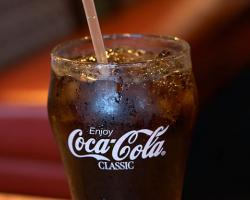 Coca cola in a glass
