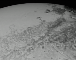 Pluto Surface Flyover