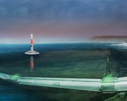 Hyperloop One underwater route