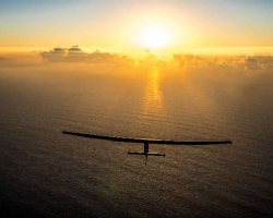 Solar Impulse sunset