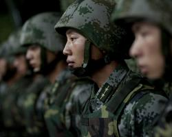 Soldiers of the People's Liberation Army Ground Force in 2011.