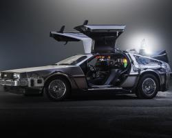 DeLorean Time Machine from Back to the Future