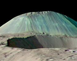 Volcanic dome Ahuna Mons