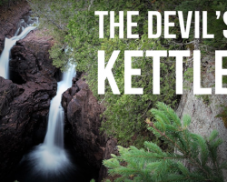 Devil's Kettle waterfalls