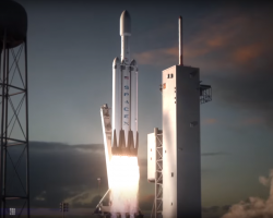 Concept art of SpaceX's Falcon Heavy