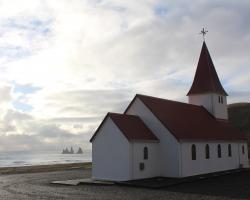Church by the sea in Iceland