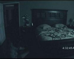 Infrared camera filming bedroom at night