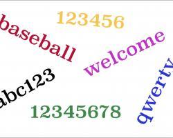 baseball, acb123, 12345678, welcome, qwerty, 123456