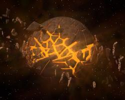 Artist's impression of a planet exploding