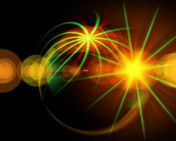 Artistic representation of an atom