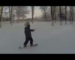 First child 'droneboarding' in Urals, Russia
