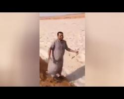WATCH: Ice River flowing in the Desert in Saudi Arabia after hail storm