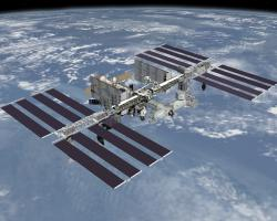 Computer-generated image of the International Space Station