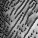 Sand dunes on Mars that appear to spell out Morse Code