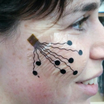 Electronic tattoo that reads nerve and muscle activity